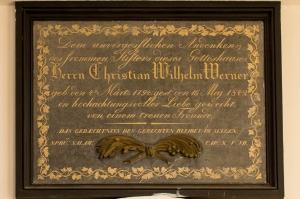 Epitafium Christiana Wilhelma Wernera w Kościele Dwunastu Apostołów